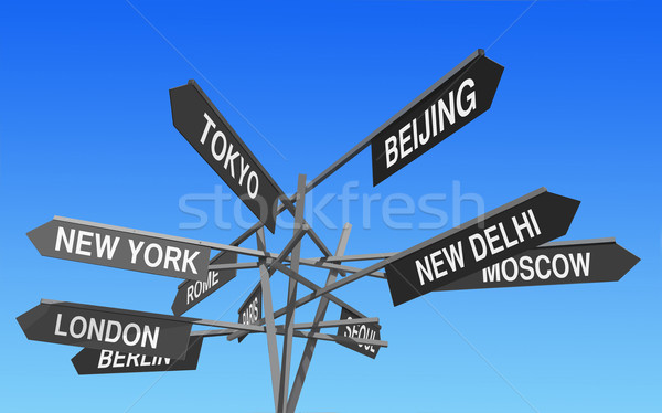 world capitals Stock photo © RedDaxLuma