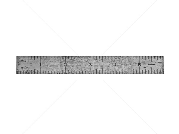 vintage steel ruler Stock photo © RedDaxLuma