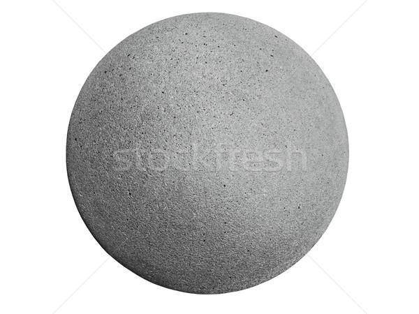 Ciment sphère concrètes isolé blanche Photo stock © RedDaxLuma