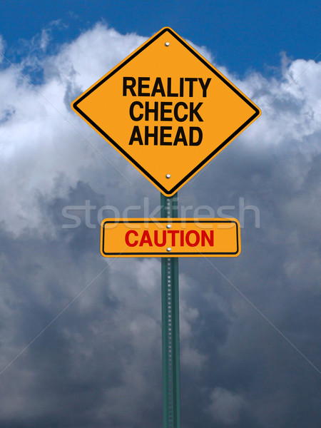 rality check ahead sign Stock photo © RedDaxLuma
