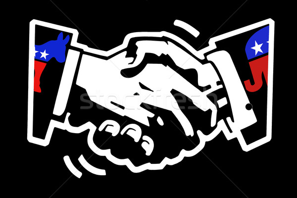 handshake democrat and republican Stock photo © RedDaxLuma