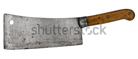 Vintage chef couteau cuisine isolé blanche Photo stock © RedDaxLuma