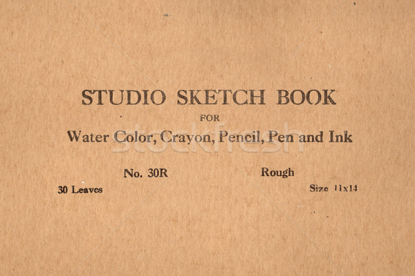 vintage sketch book Stock photo © RedDaxLuma