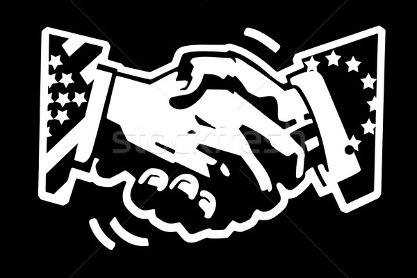 handshake usa and eu Stock photo © RedDaxLuma