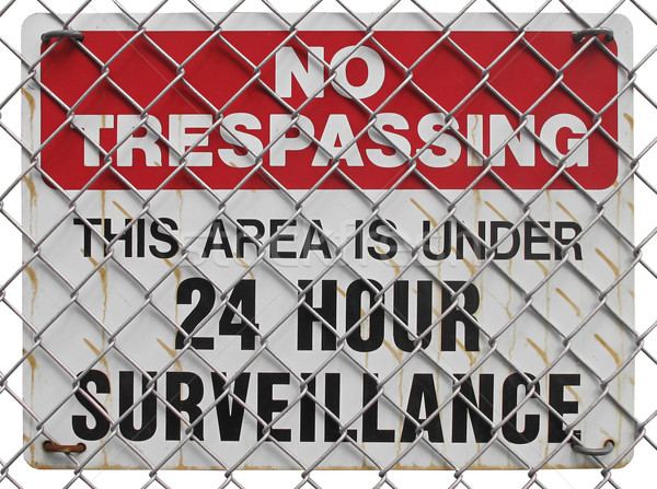 no trespassing sign  Stock photo © RedDaxLuma