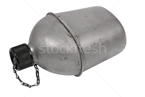 vintage army canteen Stock photo © RedDaxLuma