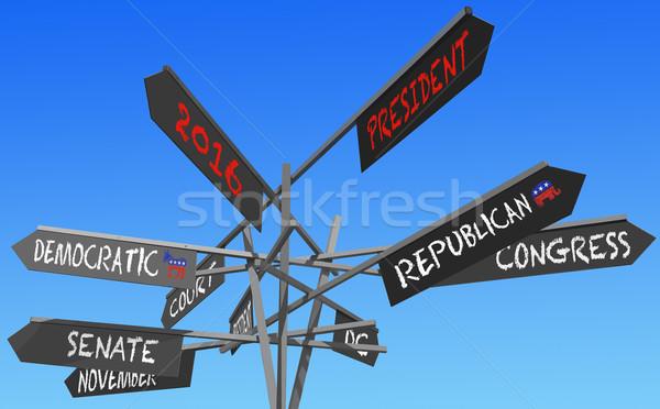 elections 2016 conceptual post Stock photo © RedDaxLuma