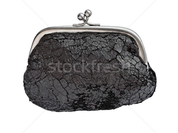 Bağbozumu değiştirmek çanta deri beyaz Stok fotoğraf © RedDaxLuma