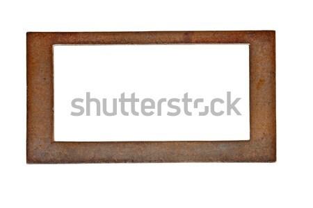 vintage brass name plate Stock photo © RedDaxLuma