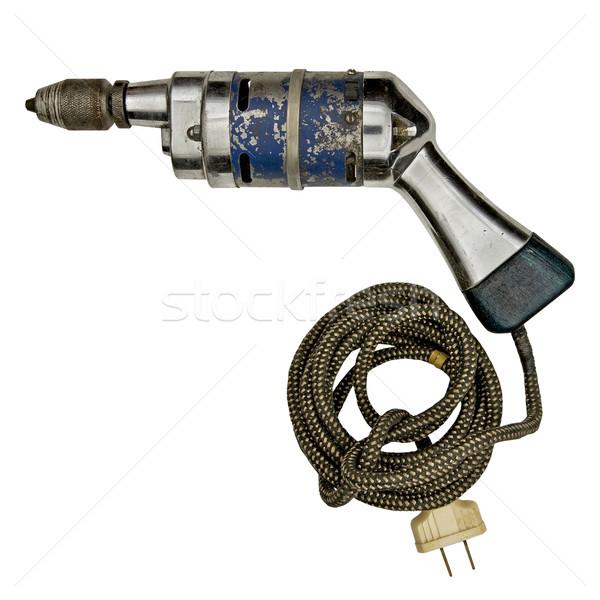 vintage electric drill Stock photo © RedDaxLuma