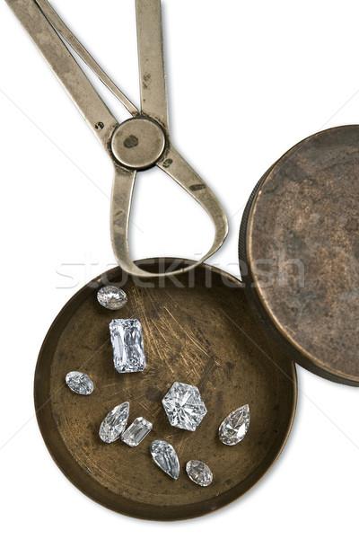 Dolgozik doboz gyémántok klasszikus kevés szerszám Stock fotó © RedDaxLuma