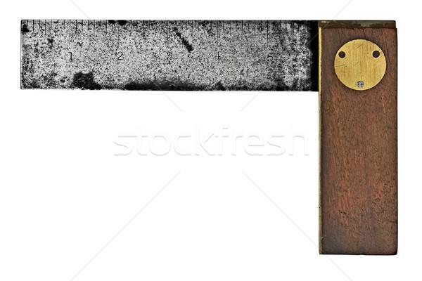 Vintage квадратный ржавые изолированный белый работу Сток-фото © RedDaxLuma