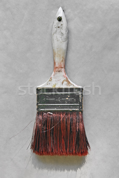 Vieux pinceau peinture sale brosse gris Photo stock © RedDaxLuma