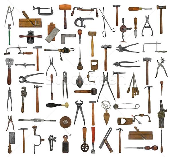 vintage tools collage Stock photo © RedDaxLuma