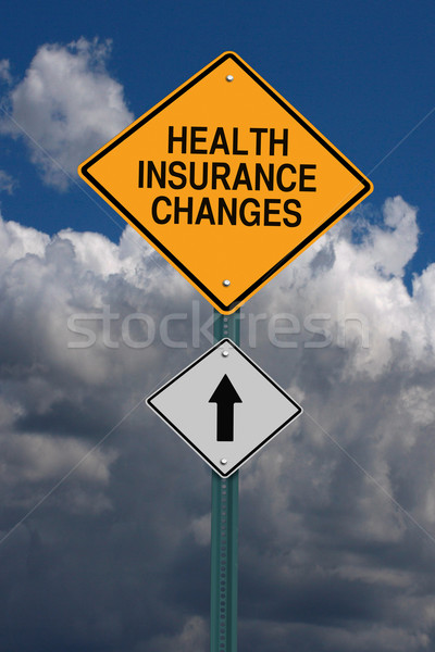 health insurance changes ahead roadsign Stock photo © RedDaxLuma