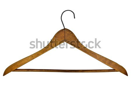 Stock photo: vintage clothes hanger