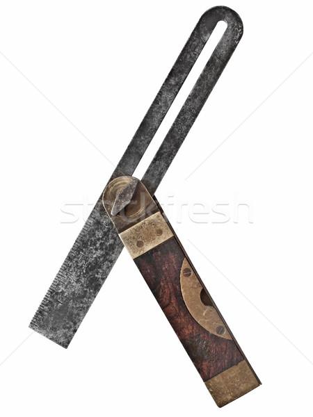 Klasszikus szög kaliber fából készült acél sárgaréz Stock fotó © RedDaxLuma