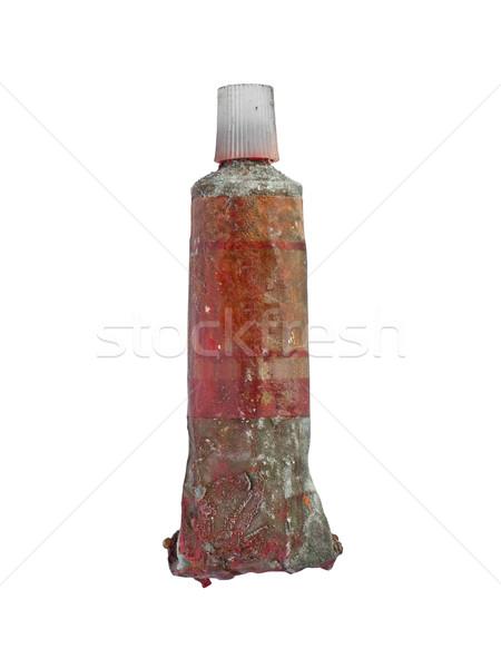 vintage oil paint tube Stock photo © RedDaxLuma