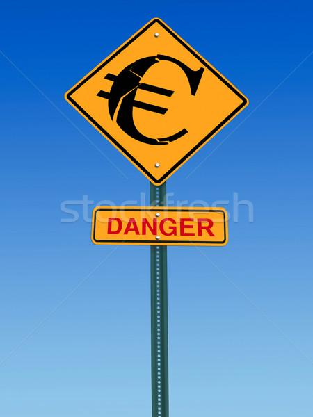 euro danger ahead sign Stock photo © RedDaxLuma