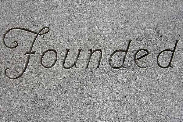слово Vintage знак серый конкретные стены Сток-фото © RedDaxLuma