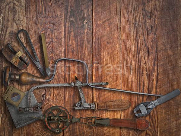 Vintage ювелир инструменты скамейке рабочих Сток-фото © RedDaxLuma