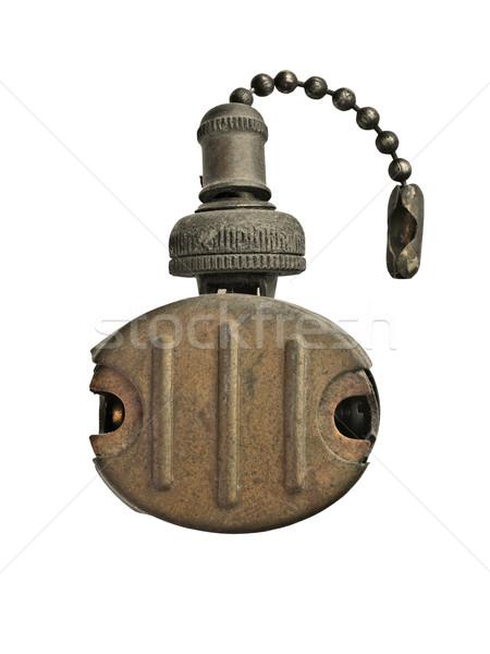 vintage brass light switch Stock photo © RedDaxLuma