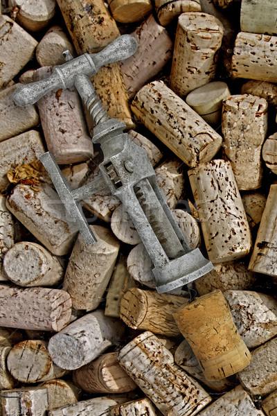 Vintage штопор фон ключевые стали алкоголя Сток-фото © RedDaxLuma
