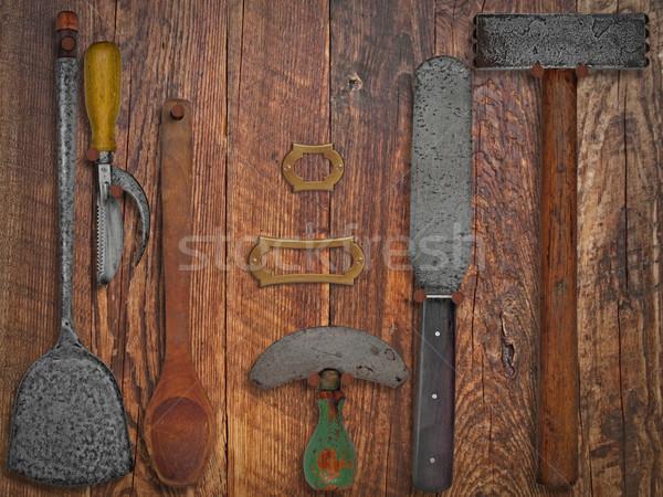 Vintage кухне стены рабочих Сток-фото © RedDaxLuma
