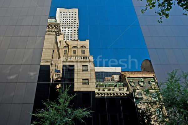 небоскреба отражение Windows современных офисное здание небе Сток-фото © RedDaxLuma