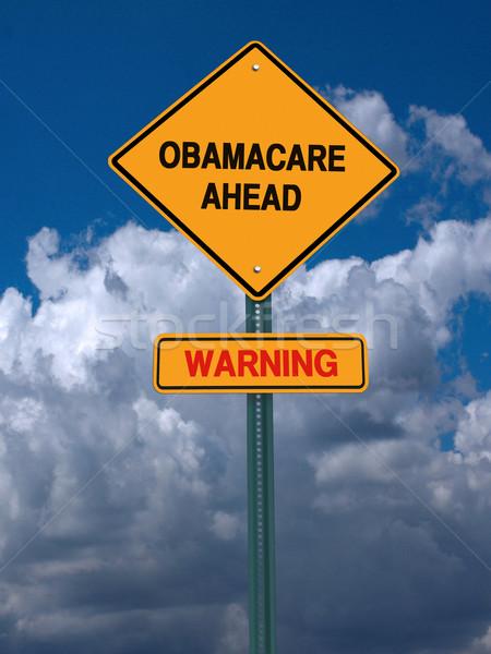 önde uyarı gönderemezsiniz mavi gökyüzü tıbbi hukuk Stok fotoğraf © RedDaxLuma