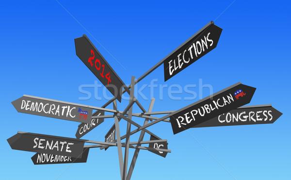 elections 2014 post Stock photo © RedDaxLuma