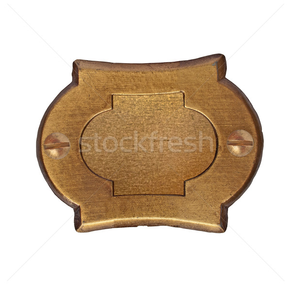 vintage brass number plate Stock photo © RedDaxLuma