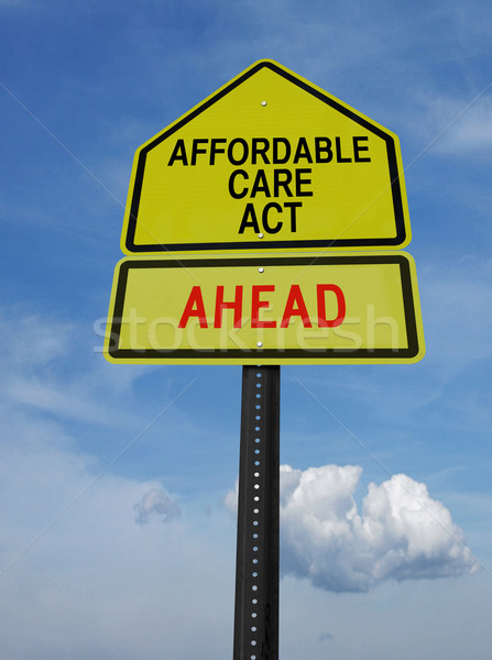 affordable care act ahead sign Stock photo © RedDaxLuma
