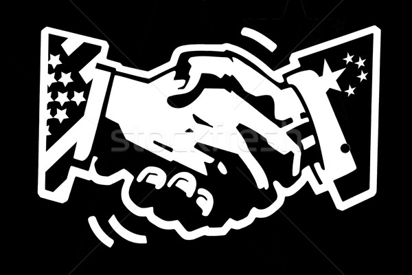 handshake usa and china Stock photo © RedDaxLuma