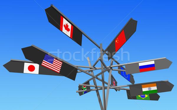 world industrial powers Stock photo © RedDaxLuma