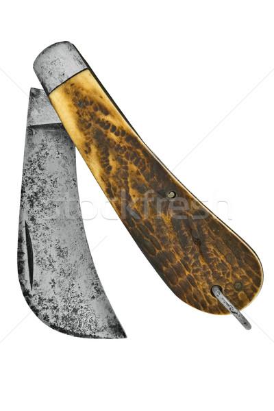 Klasszikus kés kampó izolált fehér vágási körvonal Stock fotó © RedDaxLuma