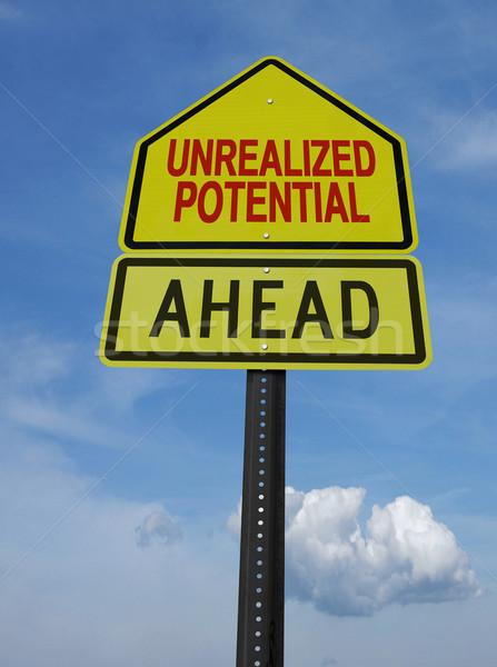 motivational unrealized potential ahead sign post Stock photo © RedDaxLuma