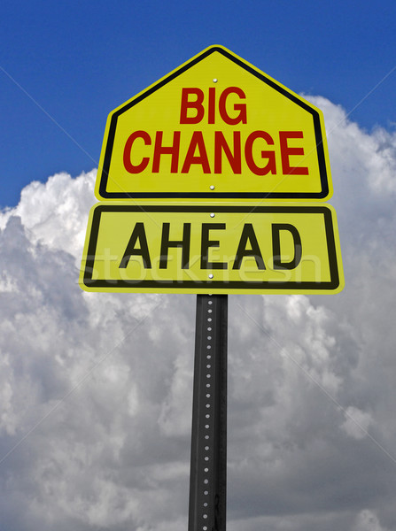 big change ahead roadsign Stock photo © RedDaxLuma