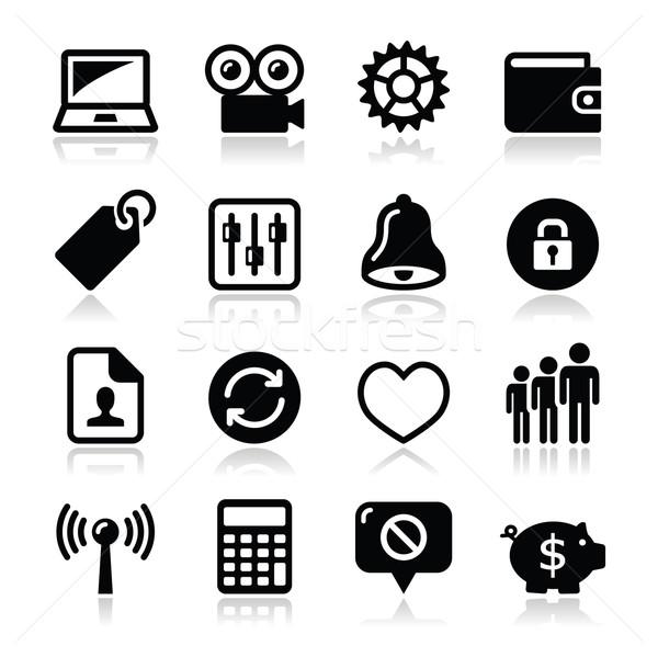 Háló internetes ikonok szett vektor modern alkalmazás Stock fotó © RedKoala
