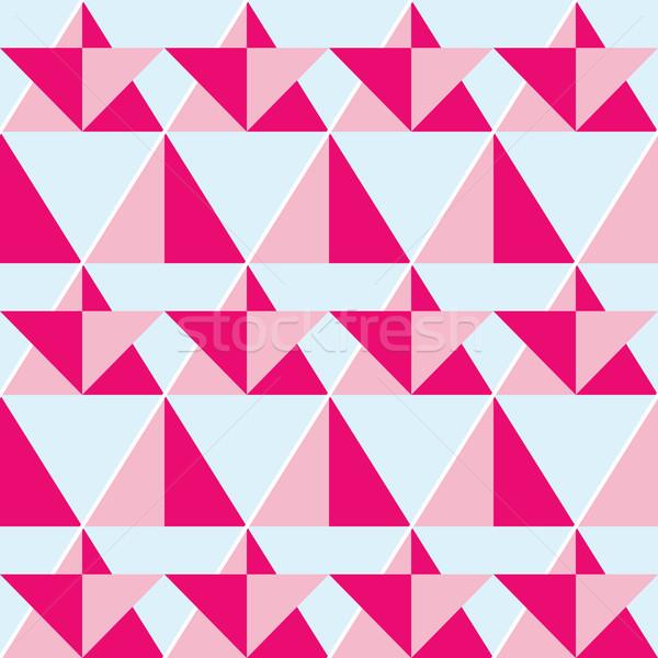 Geometric pink seamless pattern - flat design style  Stock photo © RedKoala