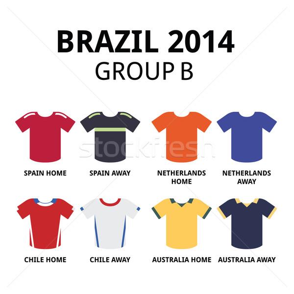 World Cup Brazil 2014 - group B teams football jerseys  Stock photo © RedKoala