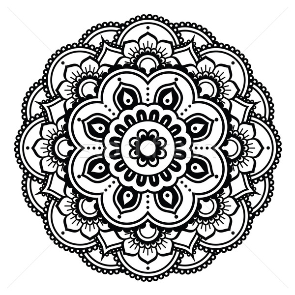 Indian Henna tattoo pattern or background - Mehndi design Stock photo © RedKoala