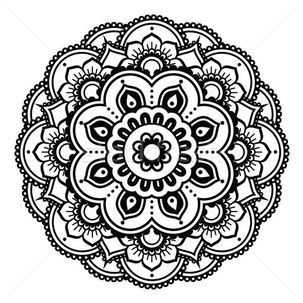 Henna Design Line Art : Indian · henna tattoo muster design vektor