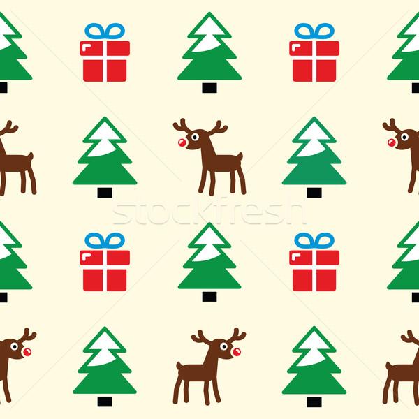 Stockfoto: Christmas · kerstmis · winter · patroon · presenteert