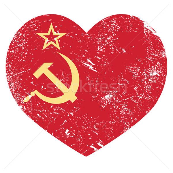 Communisme ussr sovjet- unie retro hart Stockfoto © RedKoala