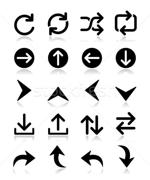 Arrow vector icon sets isolated on white Stock photo © RedKoala