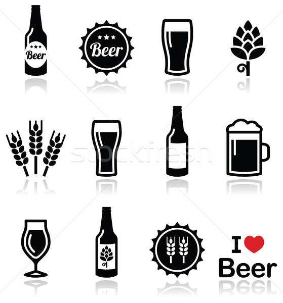 Cerveja vetor garrafa vidro quartilho Foto stock © RedKoala