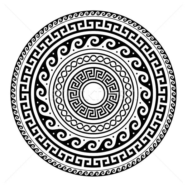 Antigo grego chave padrão arte mandala Foto stock © RedKoala