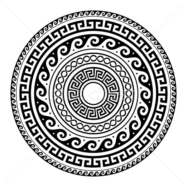 Antigua griego clave patrón arte mandala Foto stock © RedKoala