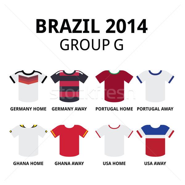 World Cup Brazil 2014 - group G teams football jerseys  Stock photo © RedKoala